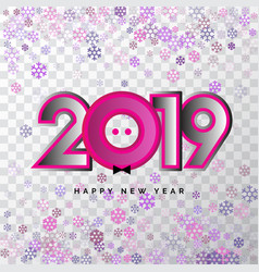 2019 happy new year 3d numbers for calendar vector image
