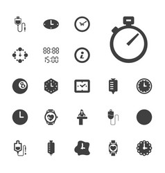 22 counter icons vector