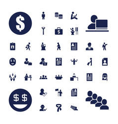 37 businessman icons vector
