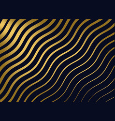 abstract golden wavy pattern background vector image