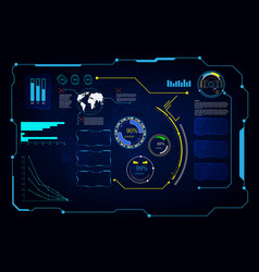 Abstract hud ui gui future futuristic screen vector