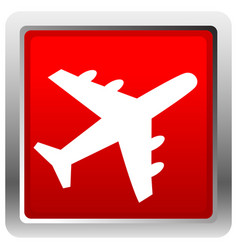 Airplane airline aircraft icon icon for flight vector