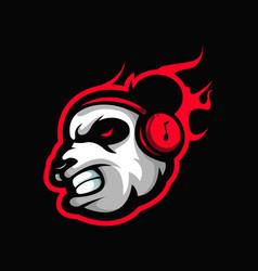 Angry panda gaming logo vector