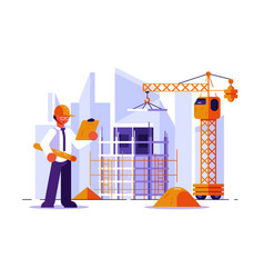 architect and construction engineer vector image