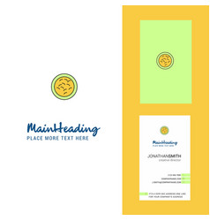 bacteria creative logo and business card vertical vector image