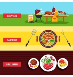 Barbecue Banner Set vector