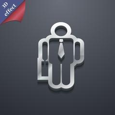businessman icon symbol 3D style Trendy modern vector image