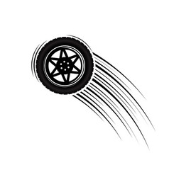 car wheel rotation move vector image