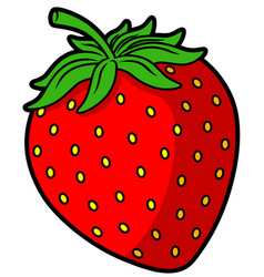 cartoon red strawberry vector image