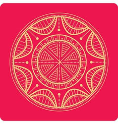 Celtic ornament on red vector image