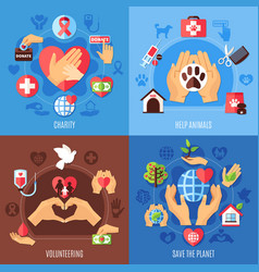 charity help design concept vector image
