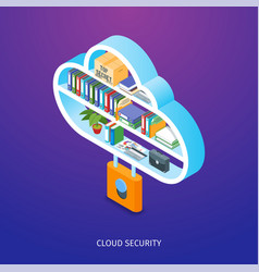 Cloud security concept vector
