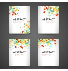 Colorful geometric abstract background set vector image