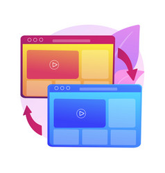 Cross-browser compatibility abstract concept vector