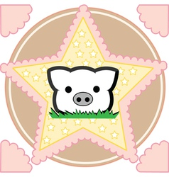 Cute little pig vector image