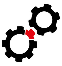 damaged gears icon vector image