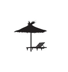 deck chair umbrella summer beach holiday symbol vector image