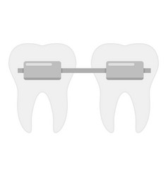 dental brace icon flat style vector image