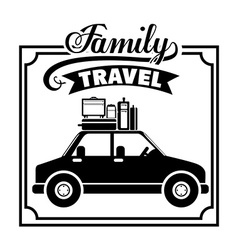 Family travel design vector image