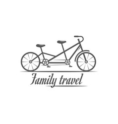 family travel logotype vector image