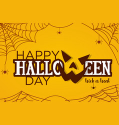 for halloween day vector image