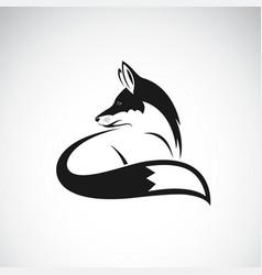 fox design on white background easy editable vector image