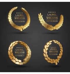 Gold silver bronze laurel wreath vector image vector image