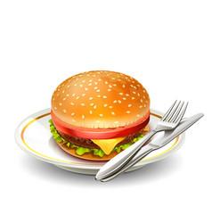 hamburger 08 vector image