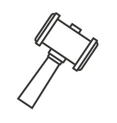 Hammer wood gavel icon vector