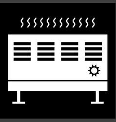 heat con it is the white color icon vector image