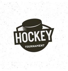 hockey logo sport emblem vector image