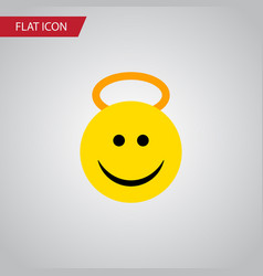 Isolated cheerful flat icon angel element vector