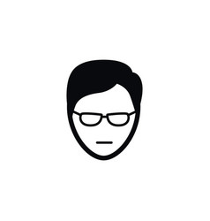 isolated male icon young person element vector image