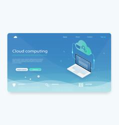 isometric modern cloud technology vector image