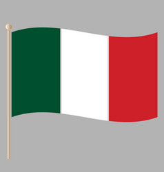 italian national flag vector image