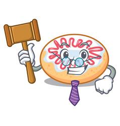 Judge jelly donut mascot cartoon vector