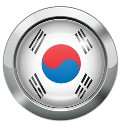 Korean flag metal button vector image