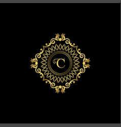 Letter c luxury ornament logo monogram crest vector