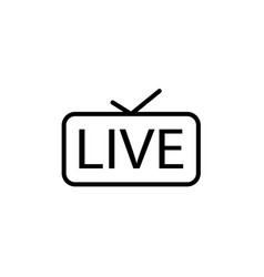 live streaming icon live in tv vector image