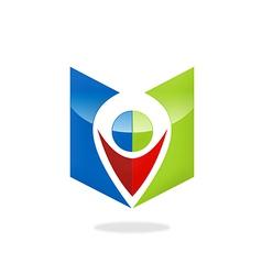 location GPS position icon logo vector image