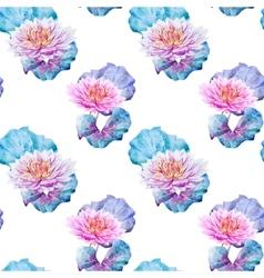 Lotus flowers pattern vector image