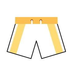 Male swimwear isolated icon vector