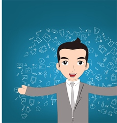 Man successful of Business vector image