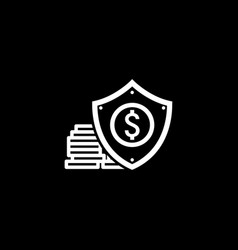 Money protection icon flat design vector