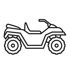 Motocross quad bike icon outline style vector