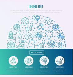 Neurology concept in half circle vector