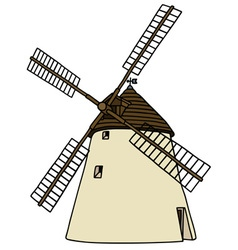 Old stone windmill vector