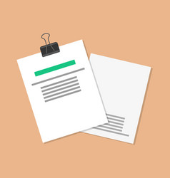 papers and documents set vector image