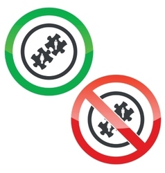 People puzzle permission signs vector