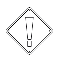 pictogram warning alert attention sign icon vector image